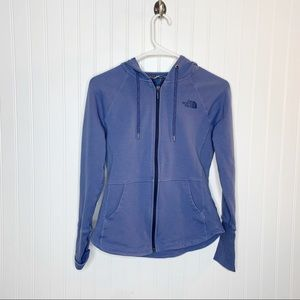 The North Face Periwinkle Zip Up Hoodie Size XS